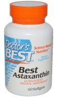 Doctor's Best, Best Astaxanthin, 60 Softgels 6 mg